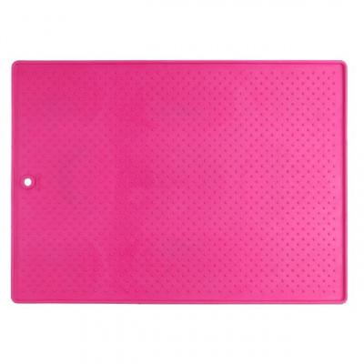 Большой антискользящий коврик под миски Dexas Розовый
