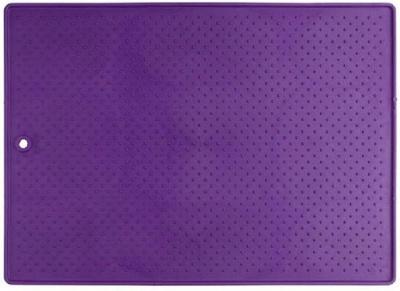 Большой антискользящий коврик под миски Dexas Фиолетовый