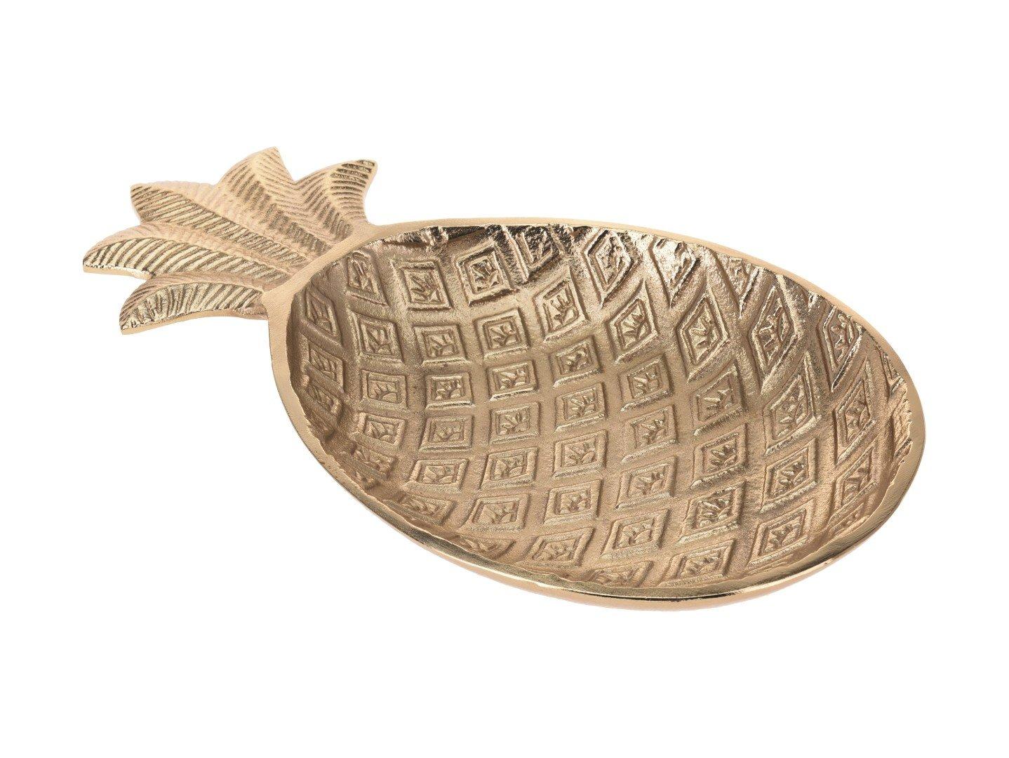 Декоративная тарелка BRW Ananas | Золотой