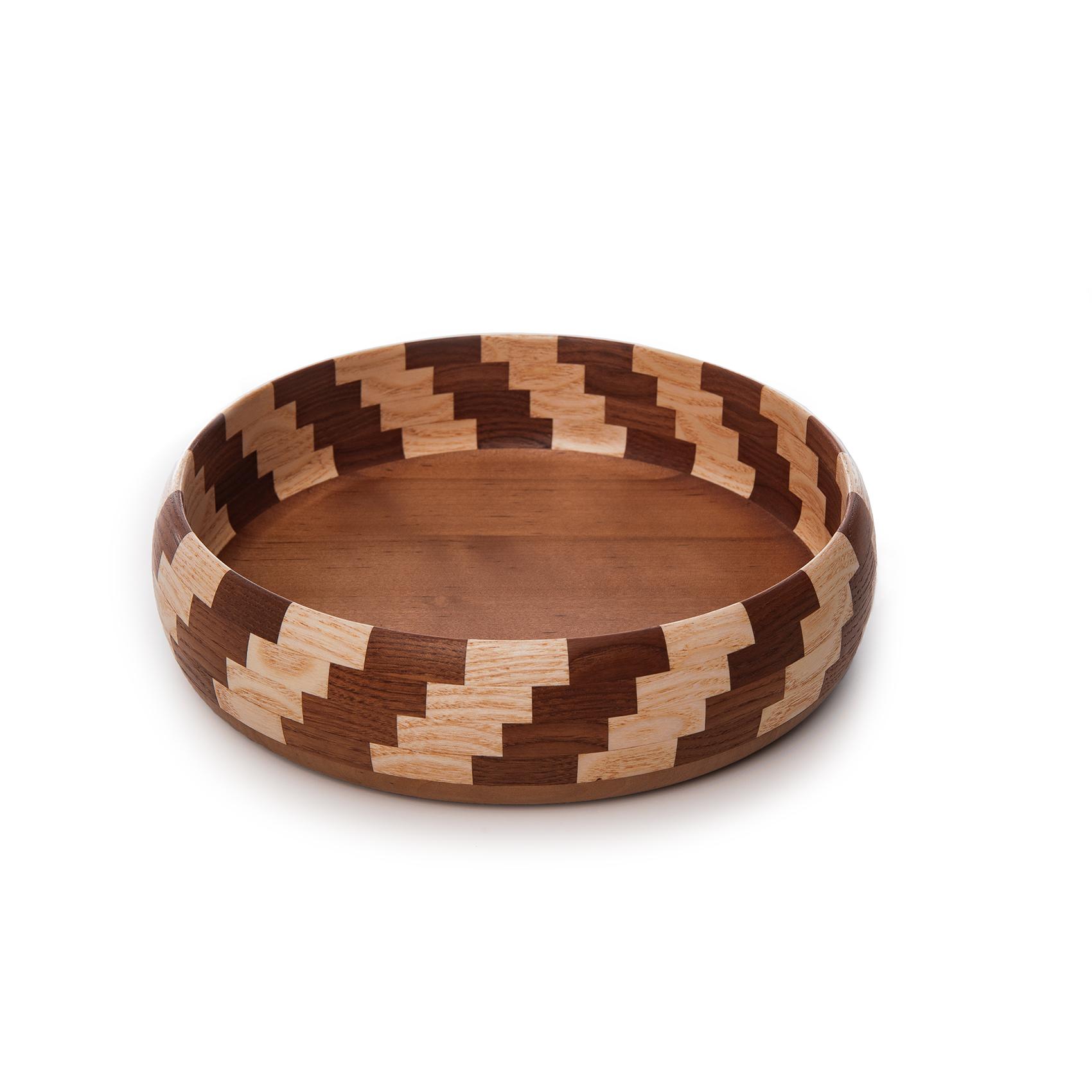Деревянная декоративная тарелка 21,5 см Poffee Lana