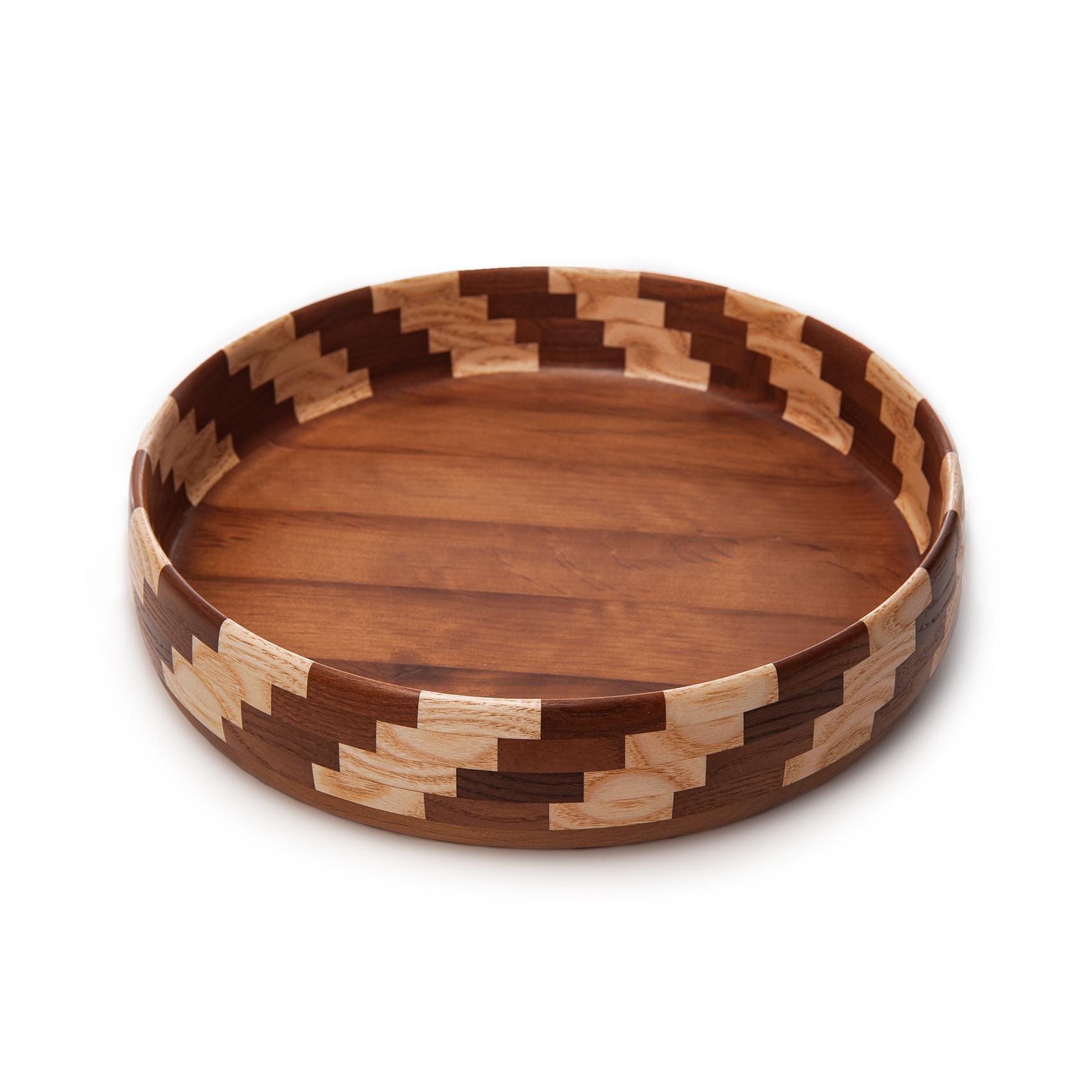 Деревянная декоративная тарелка 26,5 см Poffee Lana