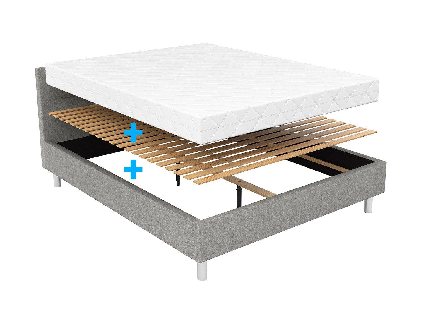 Кровать с ламелями и матрасом BRW Mala | 160х200 / Серый