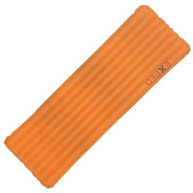 Коврик надувной (163x52см) + гермомешок-насос (42л) Exped Synmat Ul, оранжевый