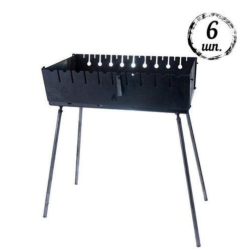 Мангал-чемодан DV - 6 шп (горячекатаный) | Х1