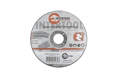 Круг отрезной 125 х 1,0 х 22,2 мм по металлу Intertool | CT-4006