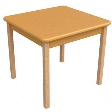 Столик дерево /плівка МДФ помаранчевий