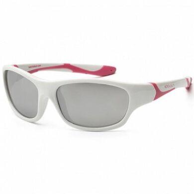 Детские солнцезащитные очки Koolsun бело-розовые серии Sport (Размер: 3+)