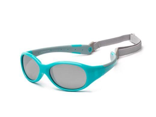Детские солнцезащитные очки Koolsun KS-FLAG003 бирюзово-серые серии Flex (Размер: 3+)