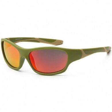 Детские солнцезащитные очки Koolsun цвета хаки серии Sport (Размер: 3+)