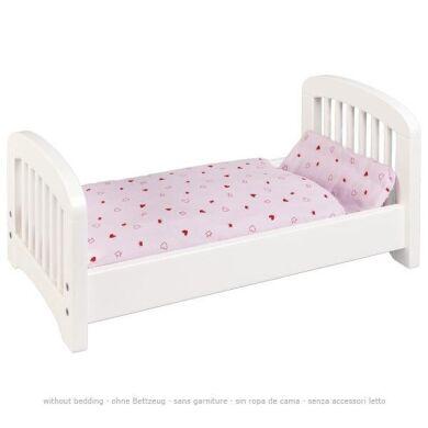 Кроватка для кукол goki белая 51734G