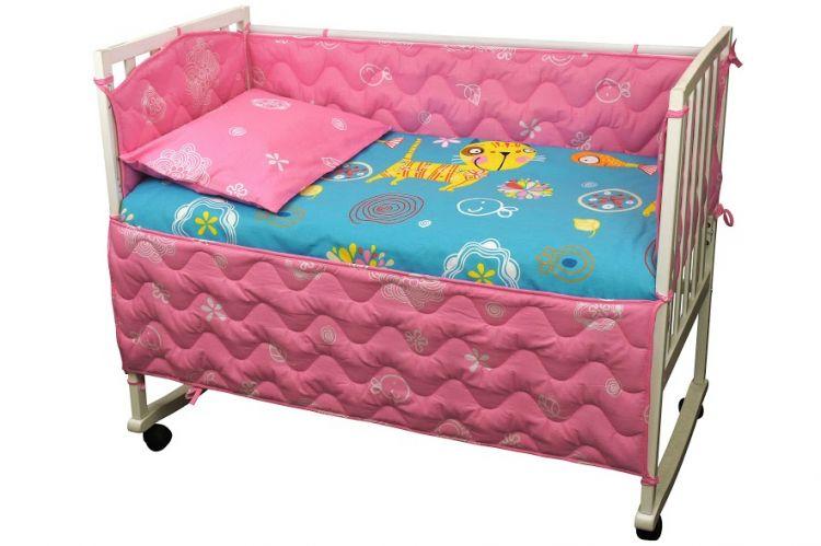 Набор для детской кроватки Руно Yellow cat