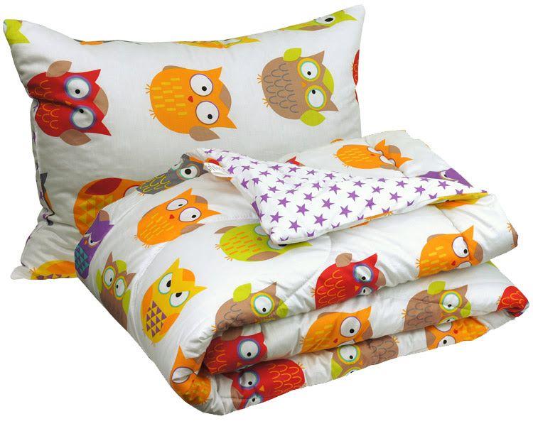 Набор детское одеяло с подушкой Совы