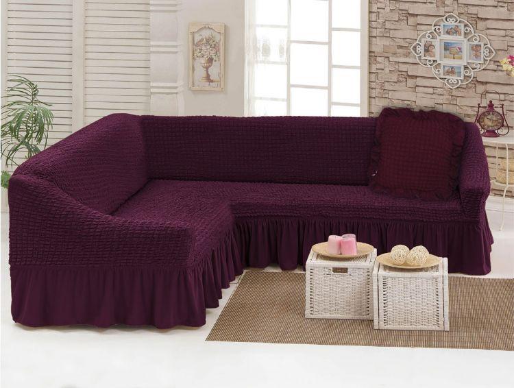 Чехол для мебели (диван угловой с подушкой) вишня (40)