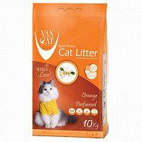 Наповнювач Van cat Ван кет бентонітовий грудкуючийся для котячого туалету з Апельсином 10 кг