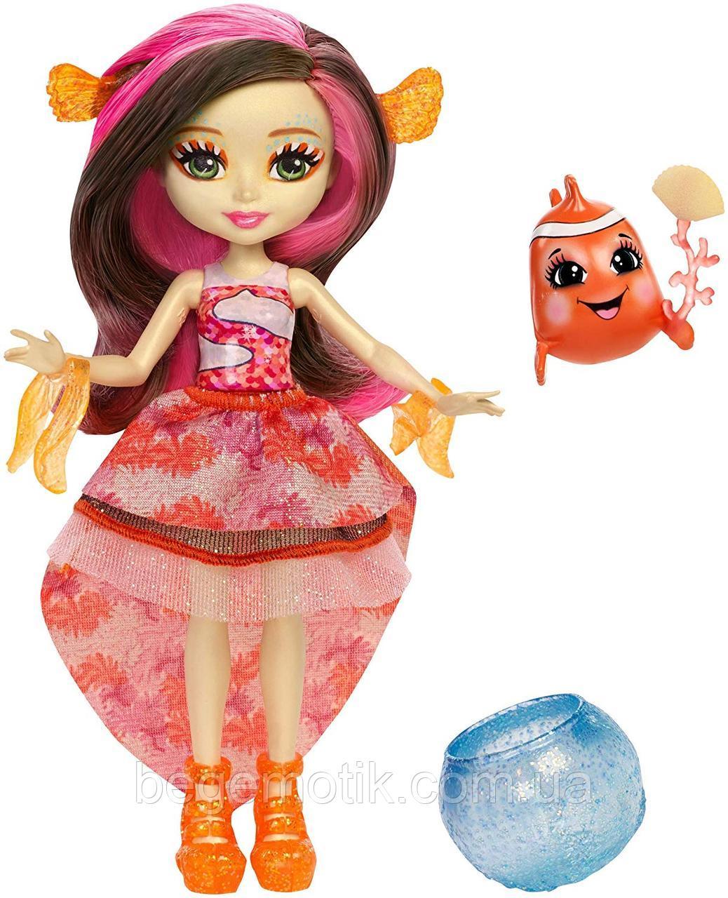 Кукла Энчантималс Морские подружки Кларита и рыба-клоун Enchantimals Clarita Clownfish Dolls