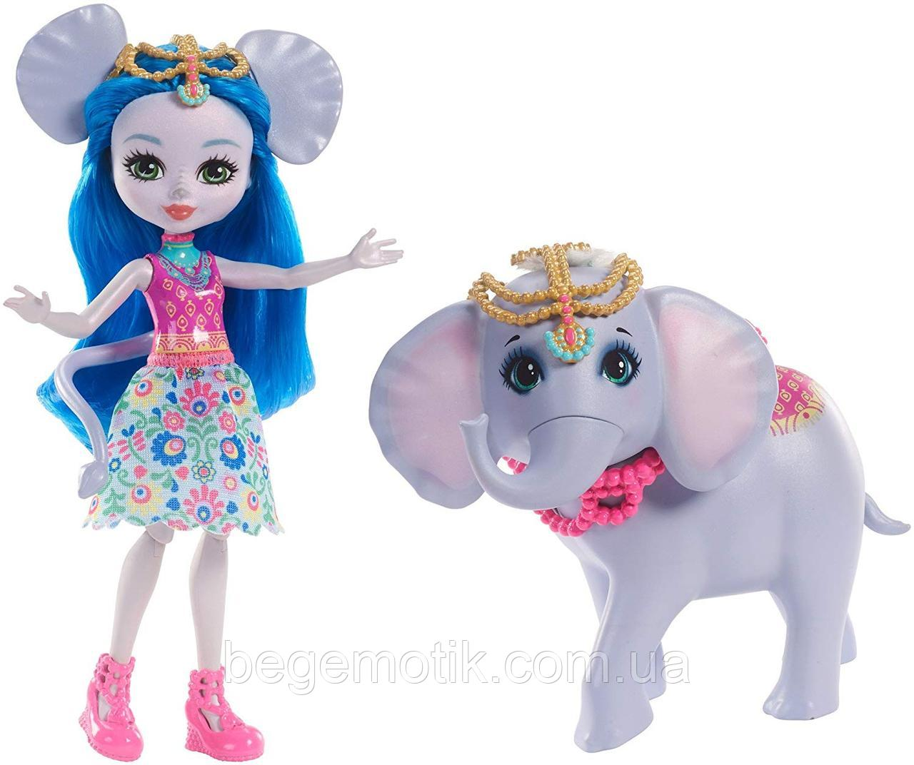 Кукла Энчантималс Екатерина Слон и слоник Антик Enchantimals Ekaterina Elephant Dolls FKY73