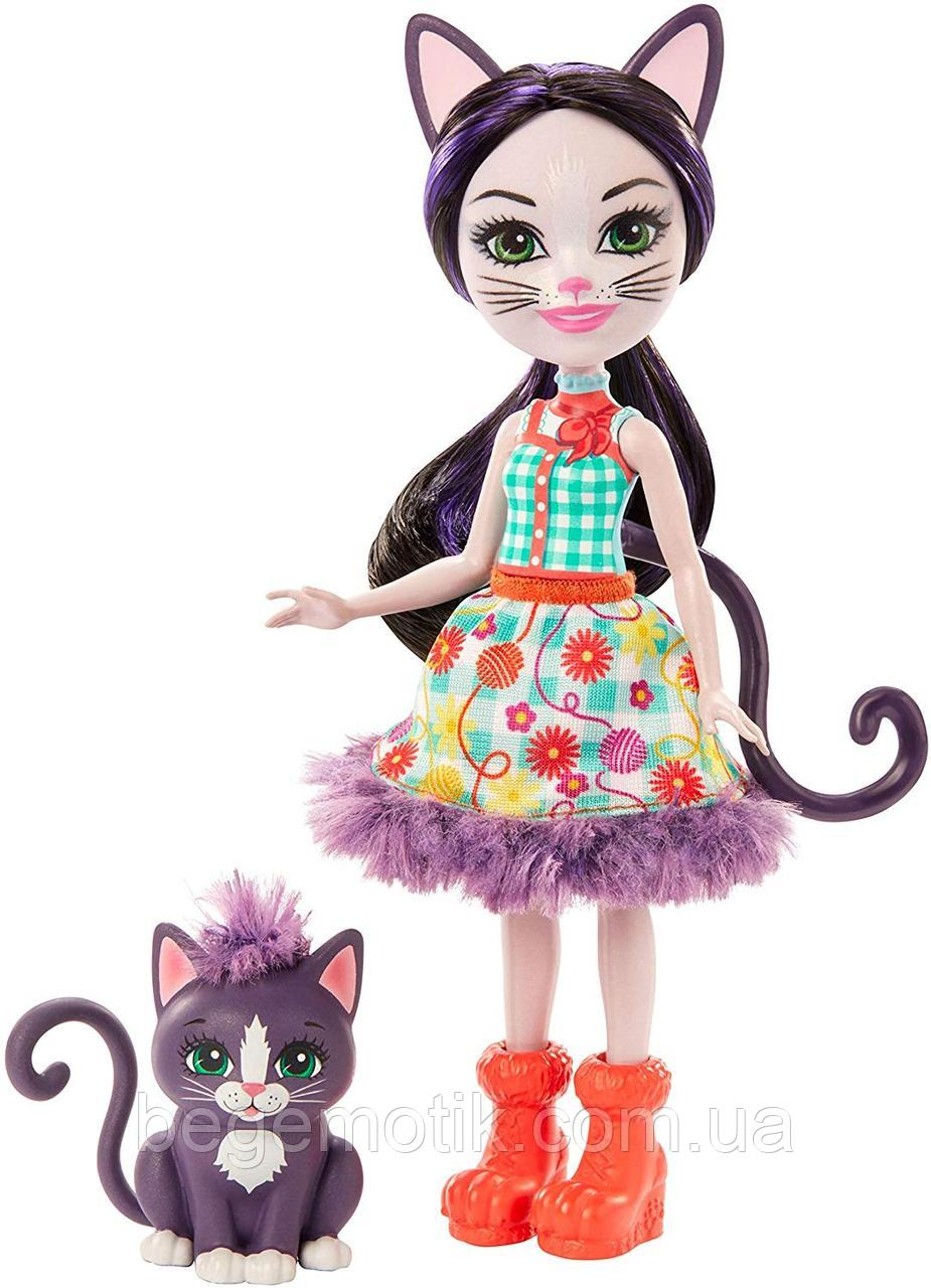 Кукла Энчантималс Кошечка Сиеста и Клаймбер Enchantimals Ciesta Cat Doll & Climber Animal Friend GJX40