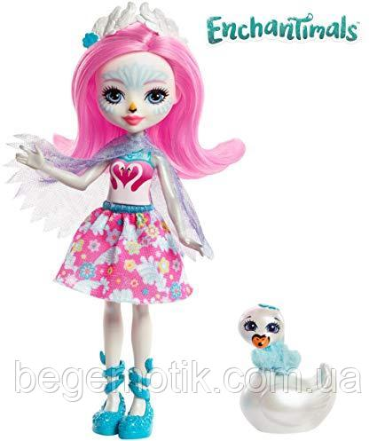 Кукла Энчантималс Лебедь Саффи и друг Пойз Enchantimals Saffi Swan Doll & Poise FRH38