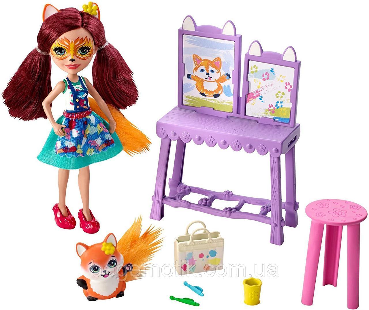 Набор с куклой Энчантималс Художественная студия Лисички Фелисити Enchantimals Felicity Fox Art Studio