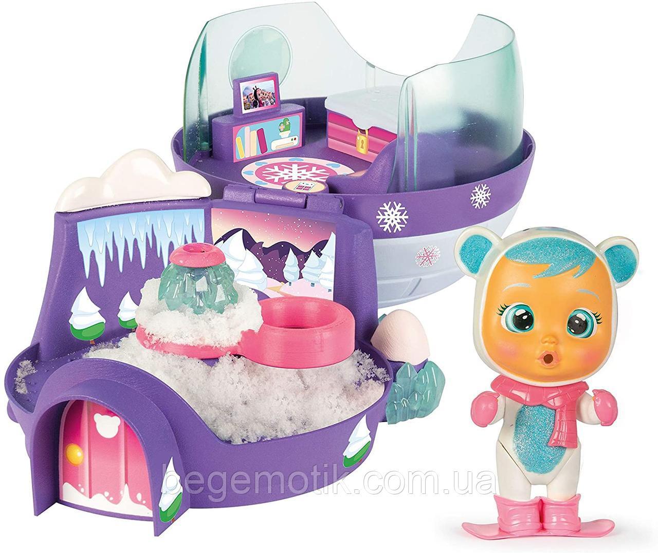 Cry Babies Игровой набор Плачущий младенец Кристал с домиком Иглу IMC Toys Iglu House with Crystal 90934