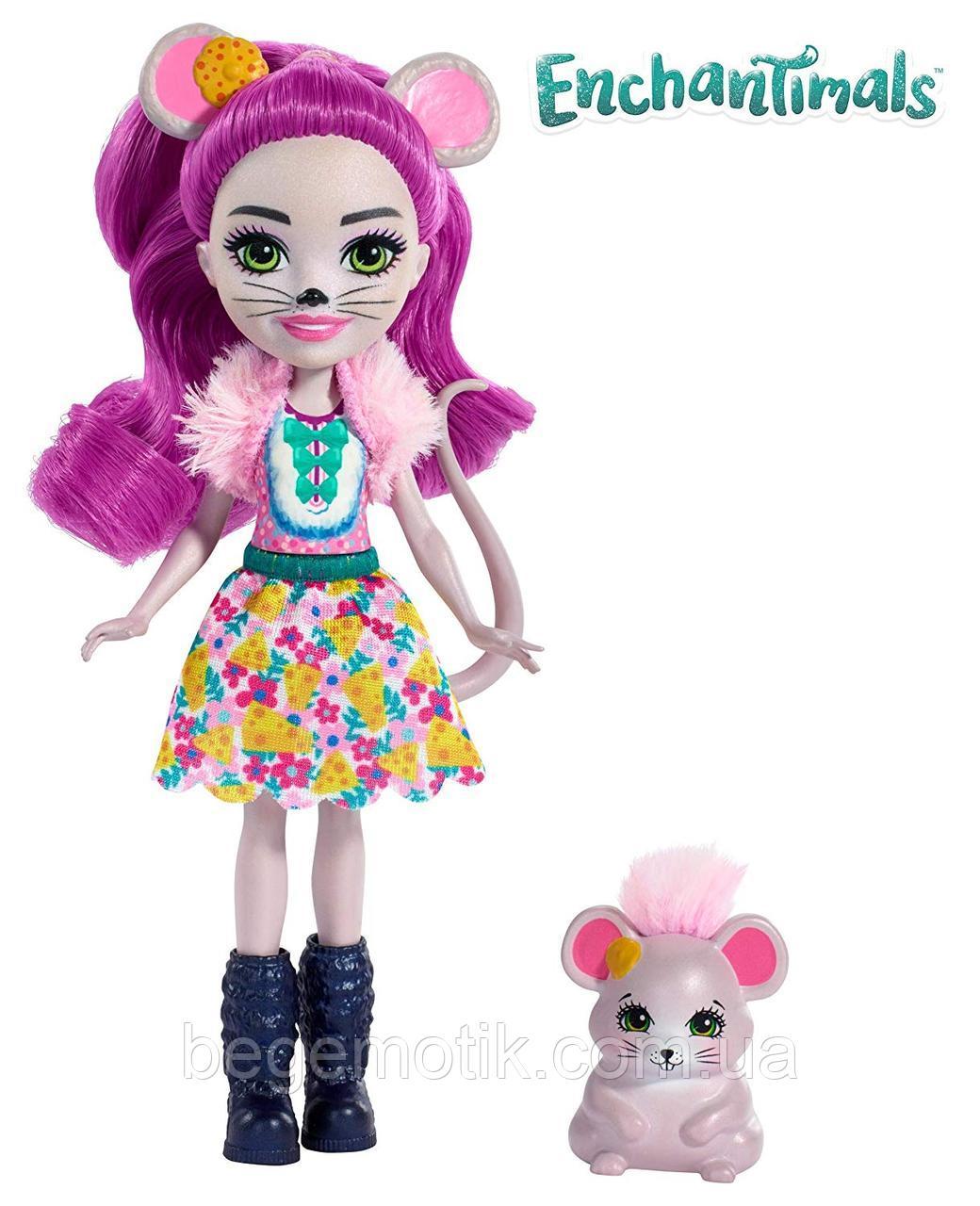 Кукла Энчантималс Мышь Майла и Питомец Фондю Enchantimals Mayla Mouse Doll & Fondue Figure (FXM76)