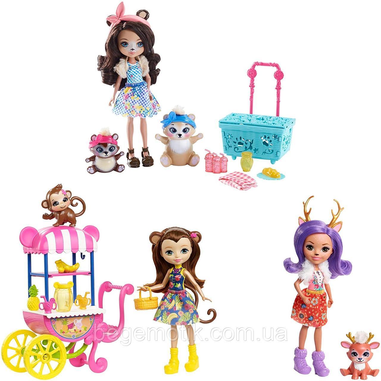 Набор Энчантималс Пикник в парке, с тремя куклами. Enchantimals FVJ80 Picnic in the Park Playset with 3 Dolls