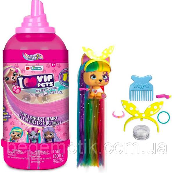 VIP Pets Домашний любимец с длинными волосами в бутылке VIP Pets IMC Toys (711709)
