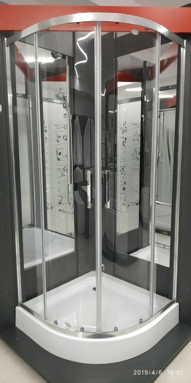 Душевая кабина полукруглая SANTEH ALEXA 90х90х205, стекло 6 мм с поддоном и сифоном