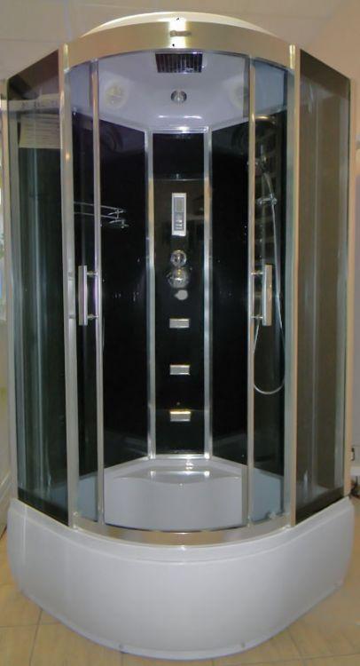 Гидромассажный бокс Atlantis AKL 1325P GR 80x80 с высоким поддоном