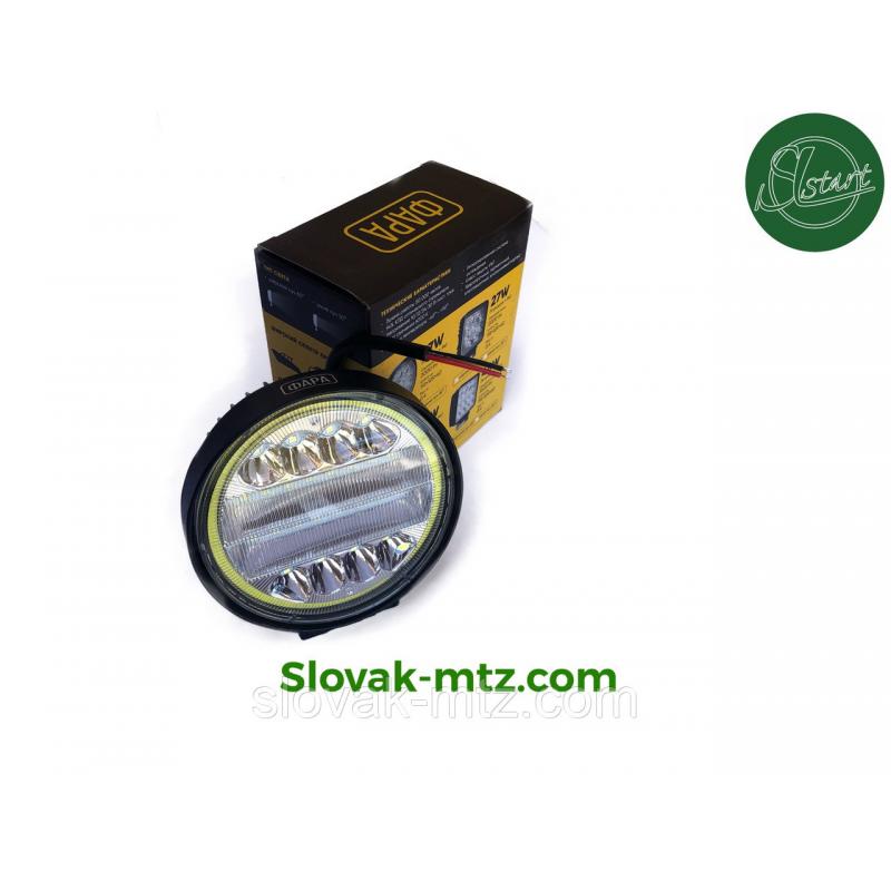 Светодиодная LED фара рабочая 72W Ангельский глаз