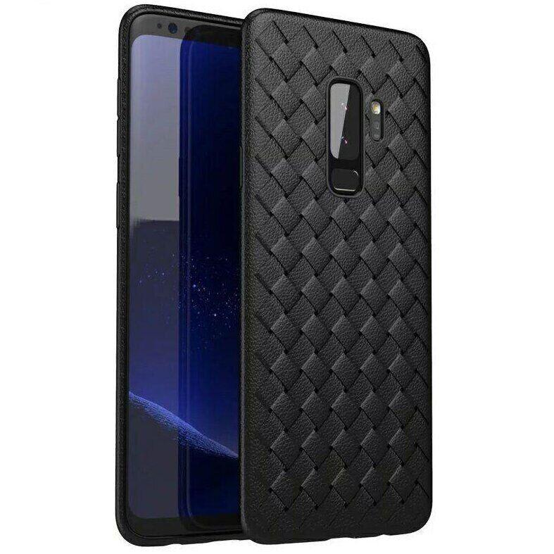 Чехол с плетением под кожу для Samsung Galaxy S9 Plus цвет Чёрный