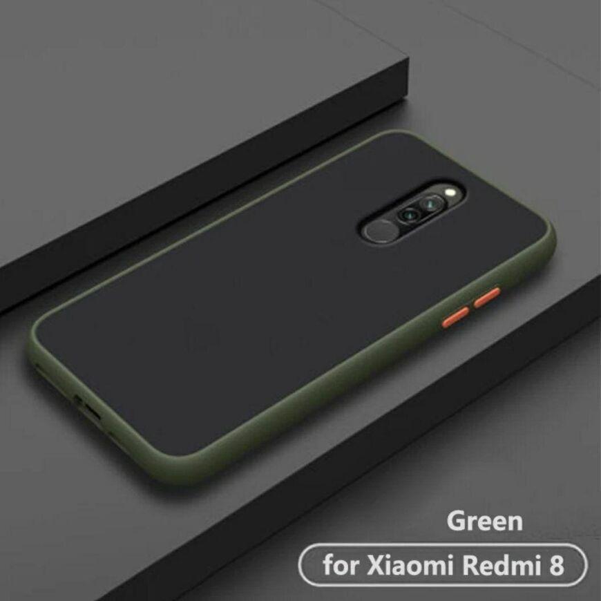 Чехол Buttons Shield для Xiaomi Redmi 8 / 8A цвет Зелёный
