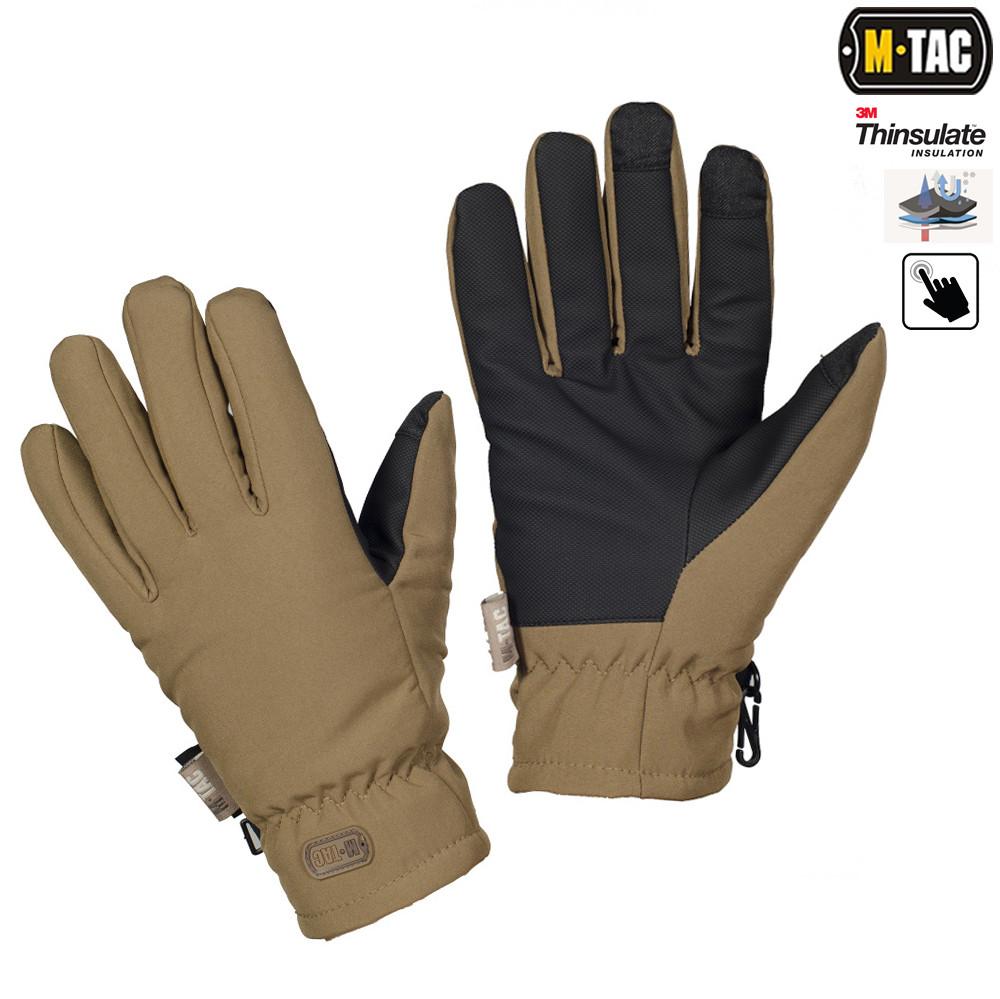 M-Tac перчатки Soft Shell Thinsulate Coyote Brown
