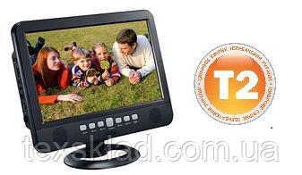 """Портативный телевизор с встроенным T2 тюнером NS-1002B-D (10""""/T2/USB/Пульт ДУ/Аккумулятор)"""