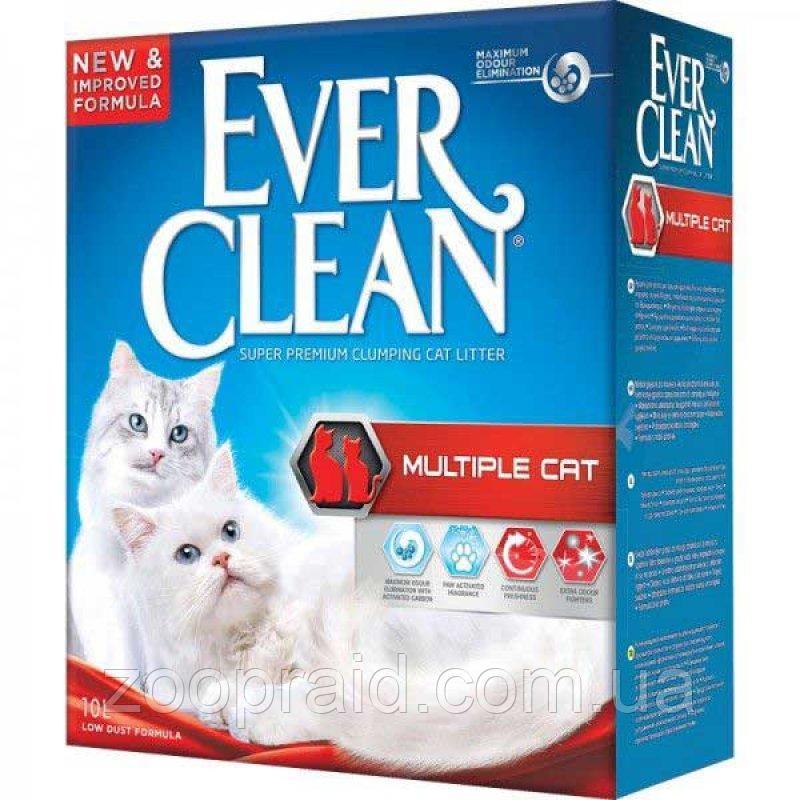 Наполнитель комкующийся для нескольких кошек Multiple Cat Ever Clean 6 л