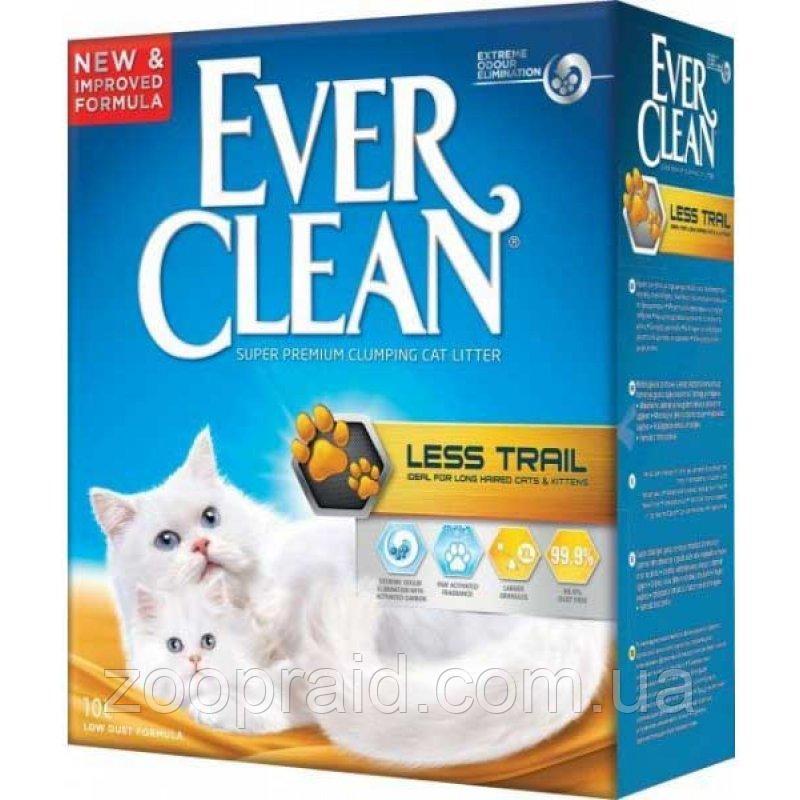 Наполнитель комкующийся для кошек Чистые лапки Less trail Ever Clean 10 л