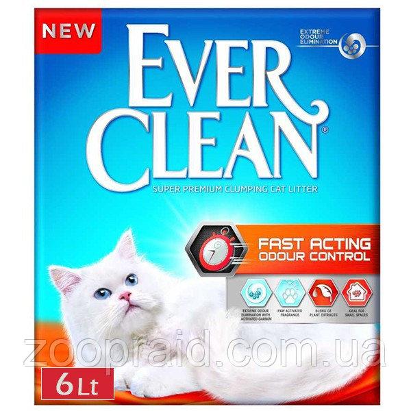Наполнитель для кошачьего туалета Ever Clean Эвер Клин Fast Acting 6 л