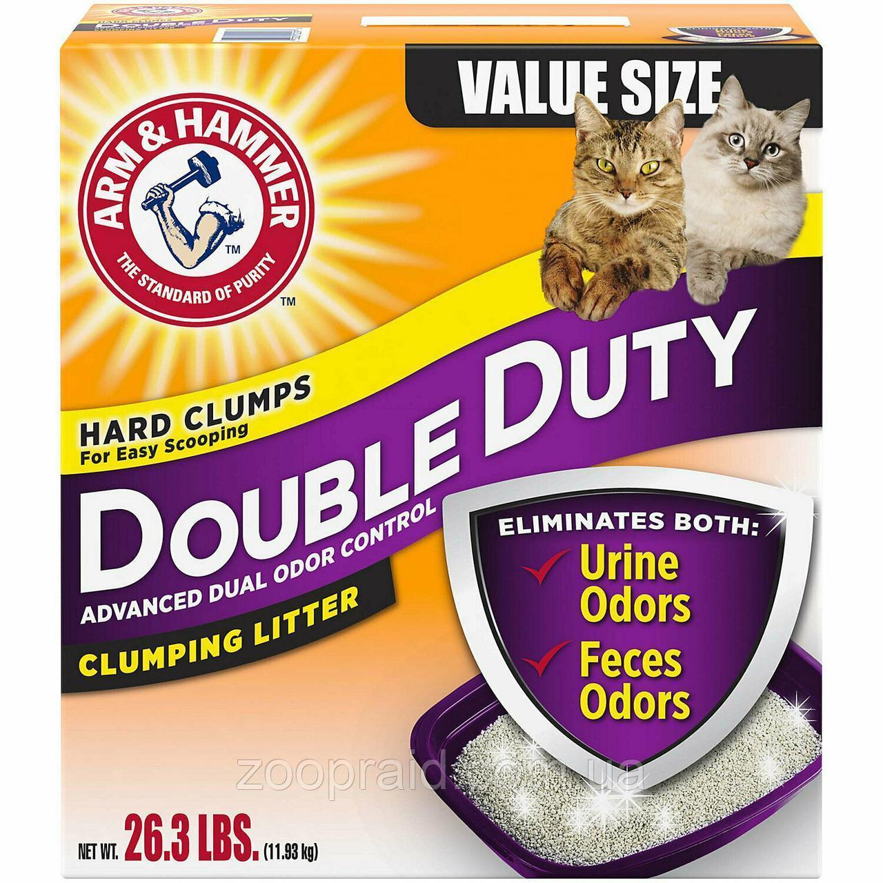 Наполнитель Arm & Hammer DOUBLE DUTY (Арм Хаммер для котячого туалету, аромат свіжості), 9,07кг.