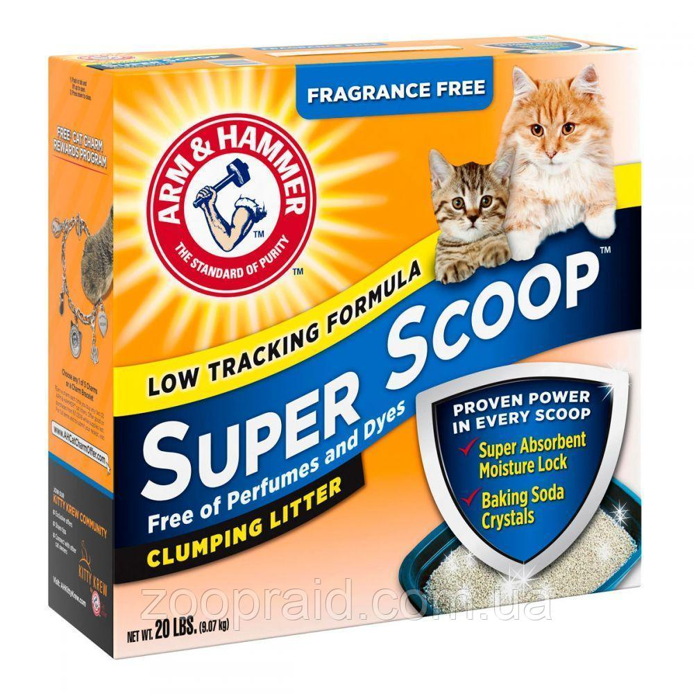 Наполнитель Arm & Hammer SUPER SCOOP (Арм Хаммер для котячого туалету, без запаху), 9,07кг