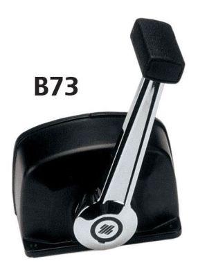 Блок ДУ с одной рукояткой. B73. Хром/черный. Ultraflex. Размер: 108 x 138 мм. 35007U.