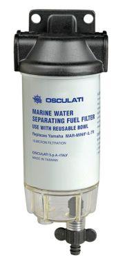 Фильтр топливный с водоотделителем. С штуцерами под шланг 8 мм. Контроль конденсата. OSCULATI