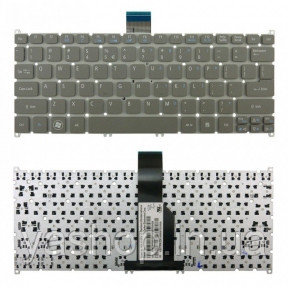 Клавиатура для ноутбука Acer Aspire S3 (без рамки) серый