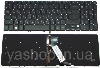 Клавиатура для ноутбука Acer Aspire 5830T (без рамки) с подсветкой черный