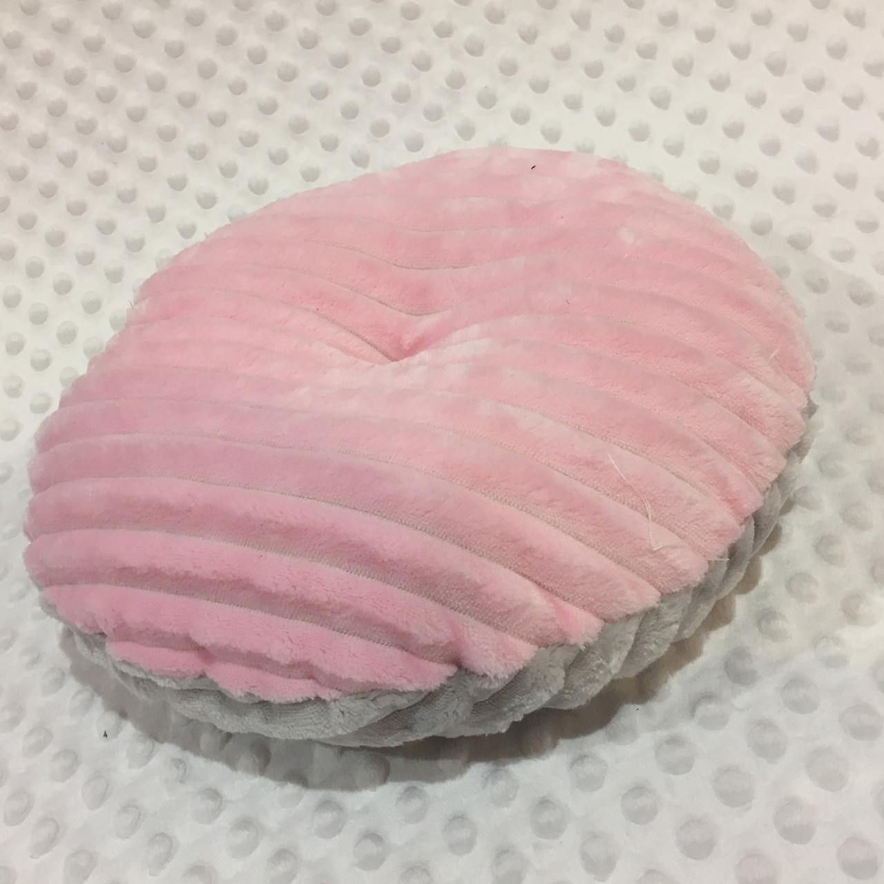 Декоративна подушка двохстороння. колір рожевий/сірий