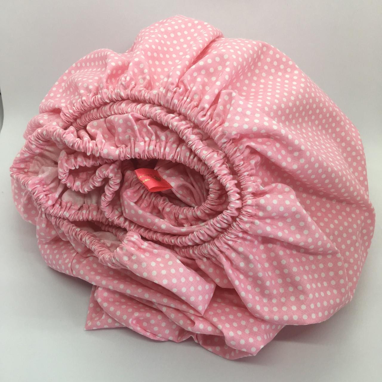 Простинь на резинці в дитяче ліжечко 60х120+20 см.