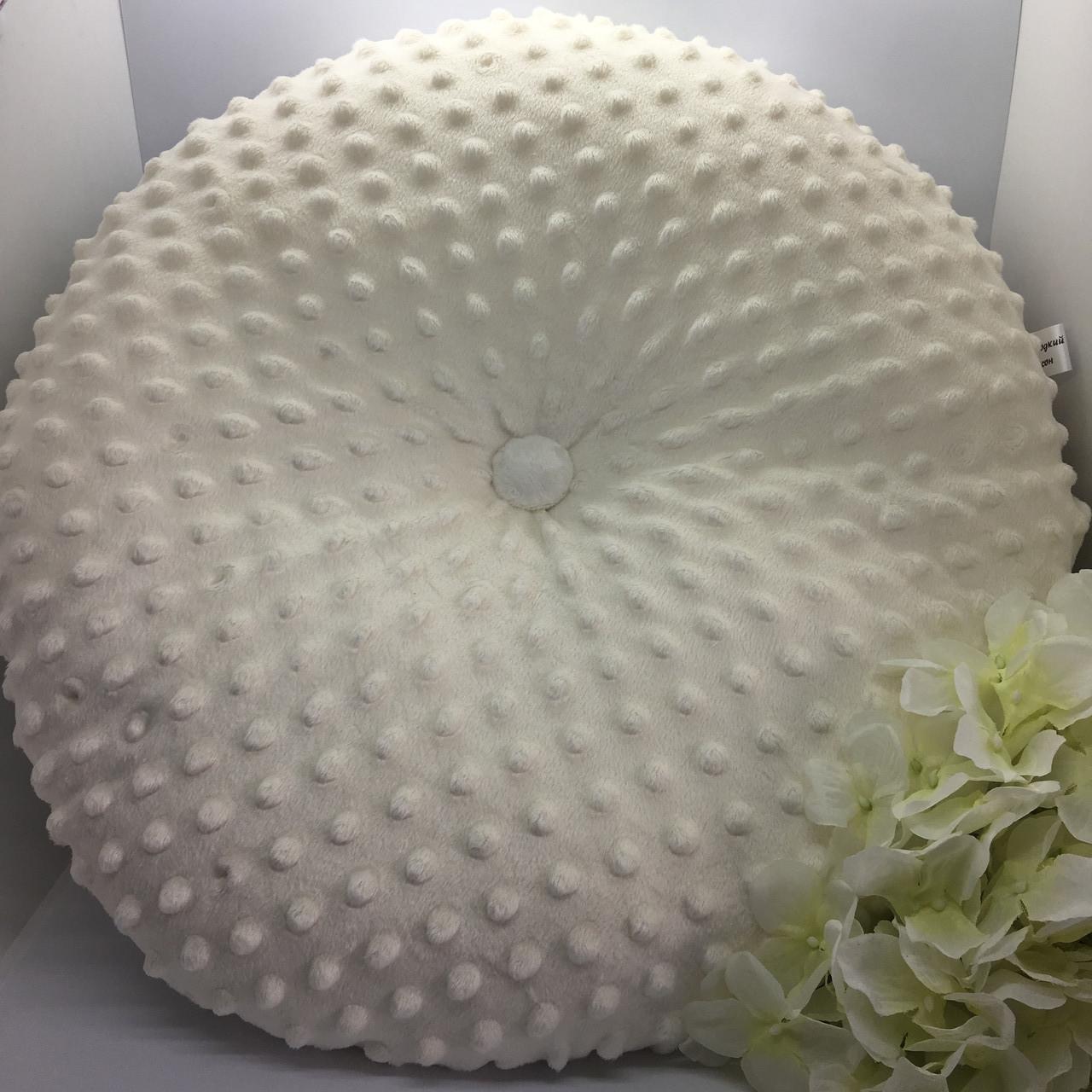 Плюшева декоративна подушка 30х30 см.