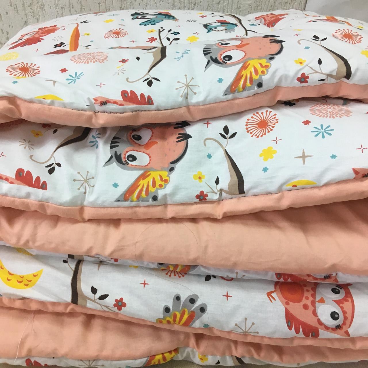 Ковдра в дитяче ліжечко рожевого кольору 90х120 см.