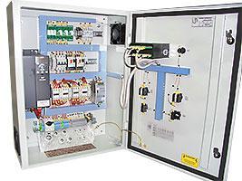 Прибор управления станцией повышения давления (с частотным управлением каждого насоса). Тип PCЕ 2х0,75 кВт