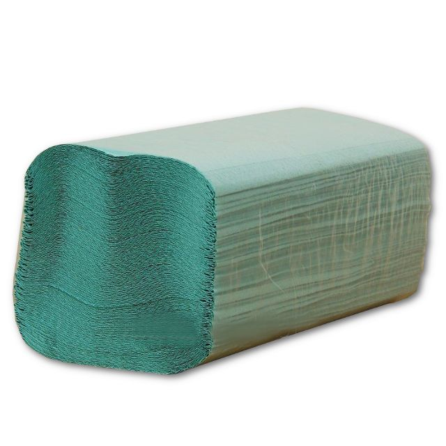Бумажные полотенца V-образные Аметист Wellis 200шт зеленые