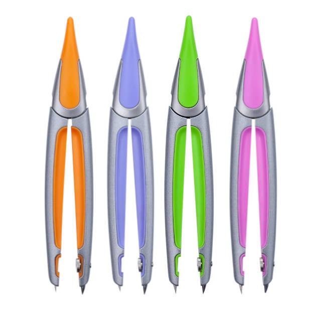 Циркуль Zibi Start Ergo в пластиковом футляре + грифель цвета в ассортименте